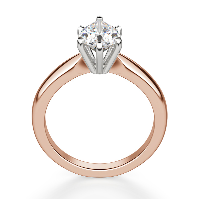 A pear shaped stone in a solitaire prong setting