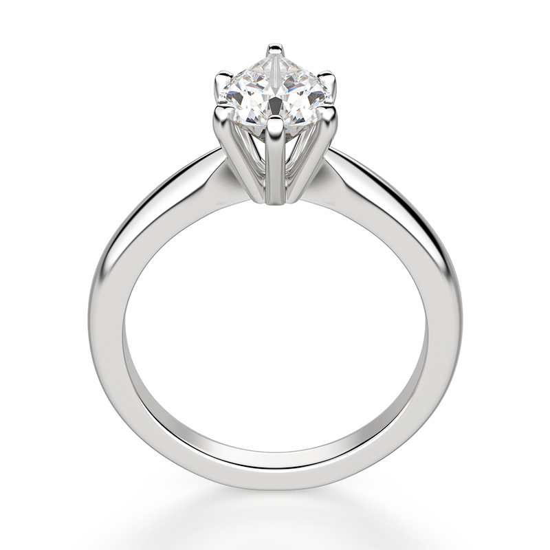 A prong engagement ring setting