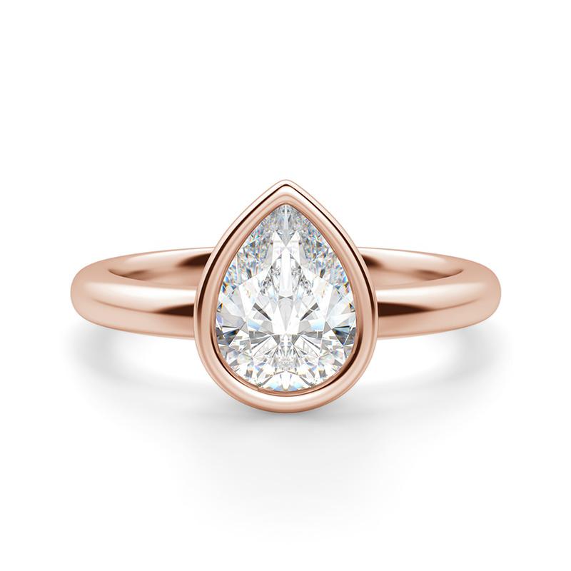 A bezel engagement ring setting