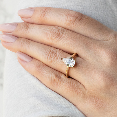 How to Wear a Pear Shaped Ring