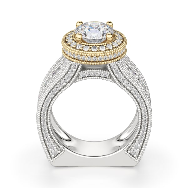 Hover, 14K White/ Yellow Gold,