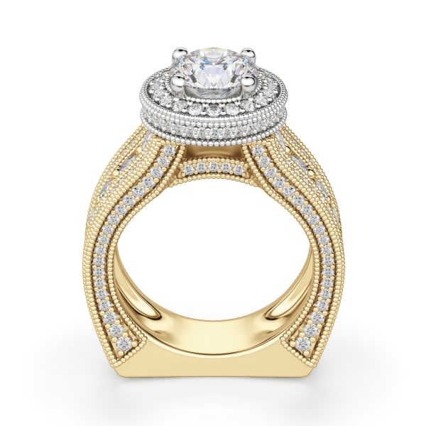 Hover, 14K Yellow/ White Gold,