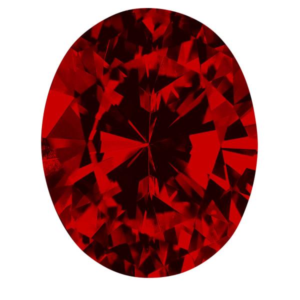Ruby Oval Cut