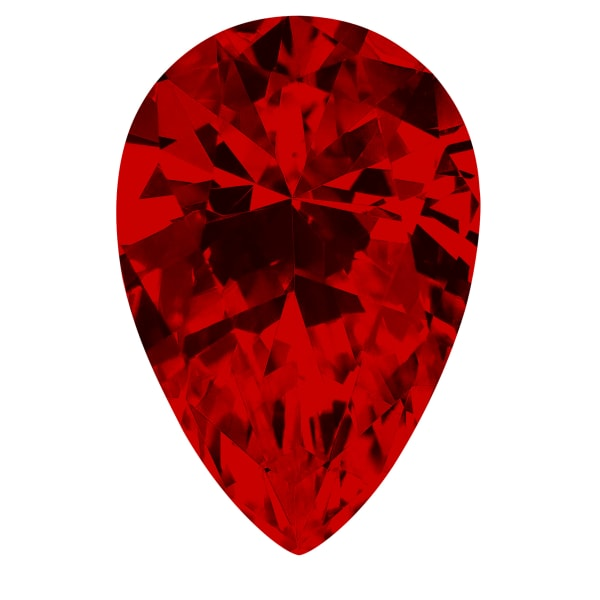Ruby Pear Cut