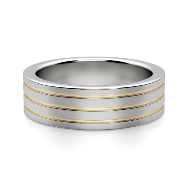 Default, Tungsten, 14k Yellow Gold