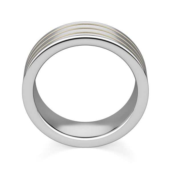 Hover, Tungsten, 14k Yellow Gold