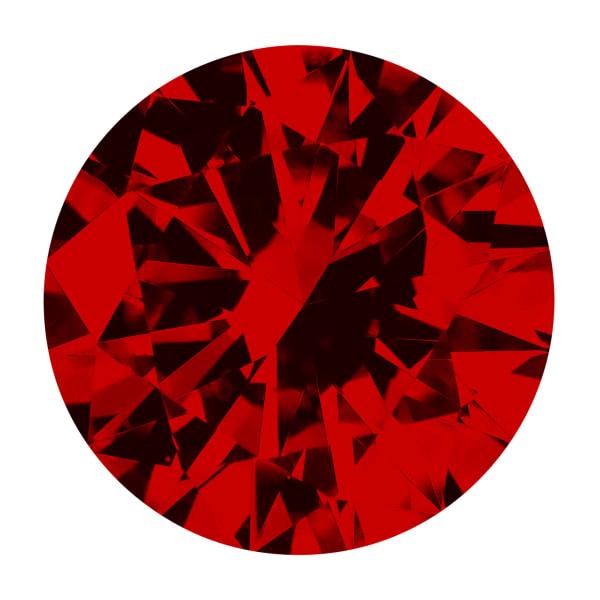Ruby Round Brilliant Cut