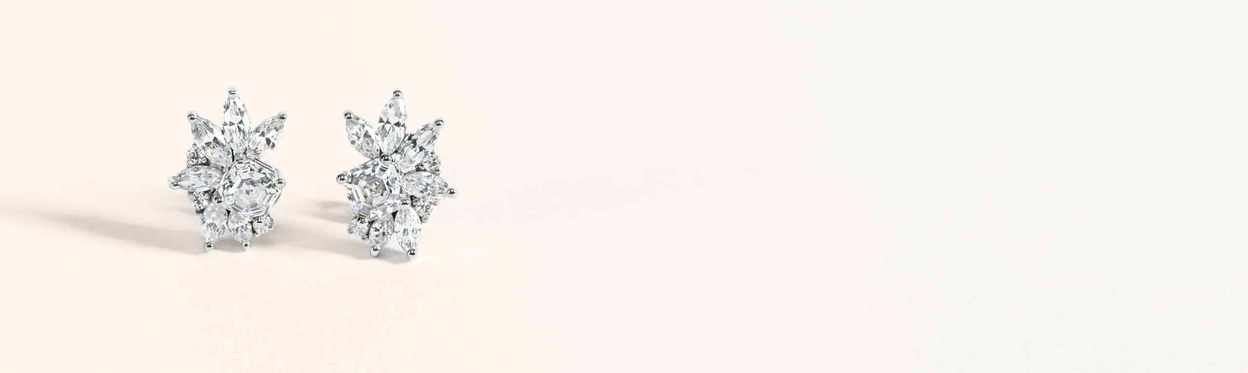 Gift lovely affordable diamond alternative earrings