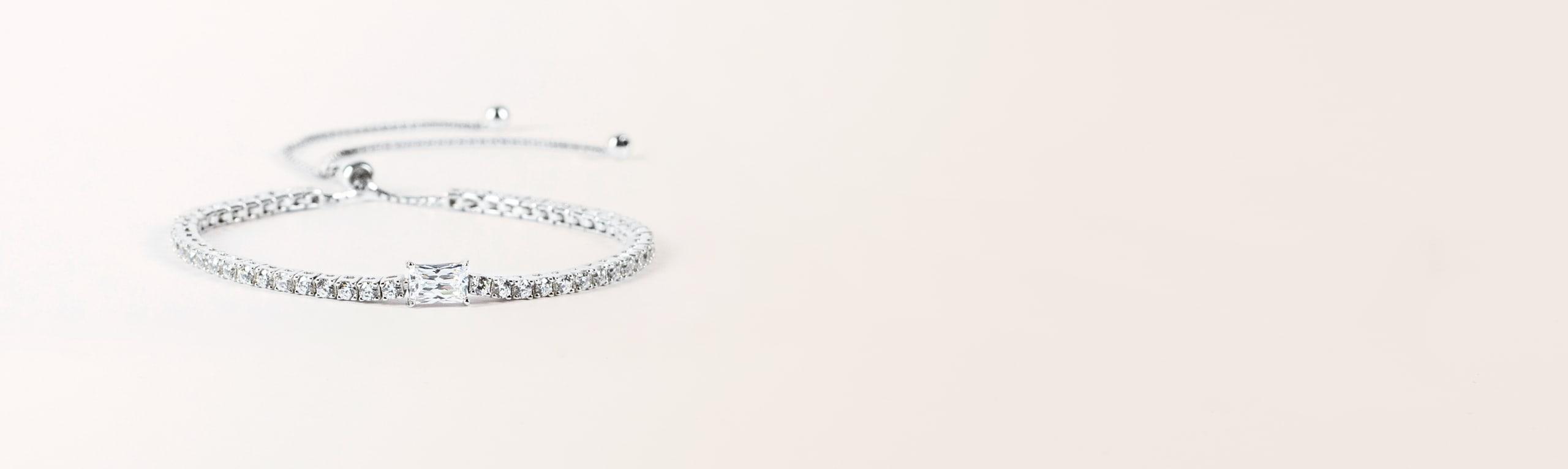Diamond alternative bracelet gift for $500 or under