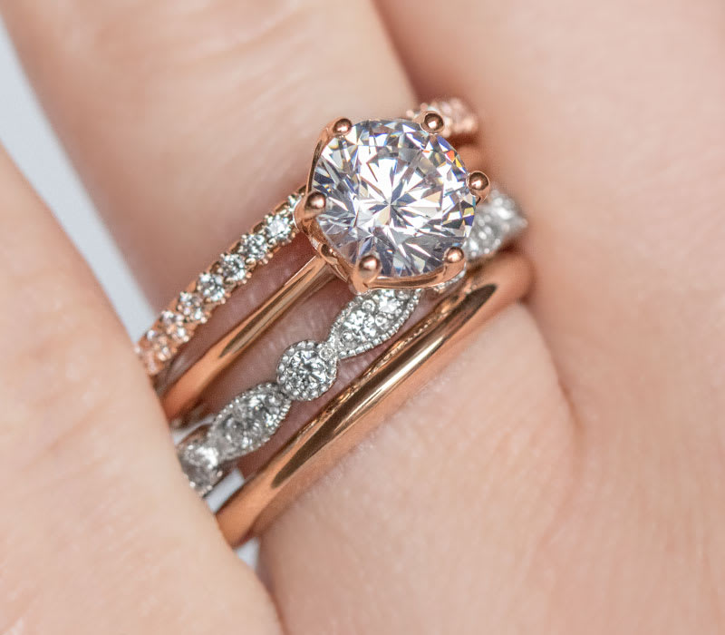 How to Stack Your Wedding Bands