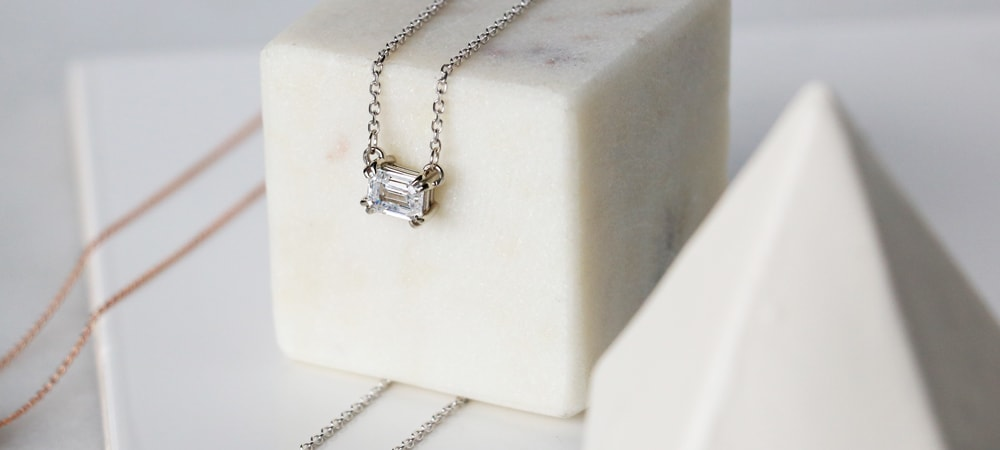East-West Necklaces: Emerald