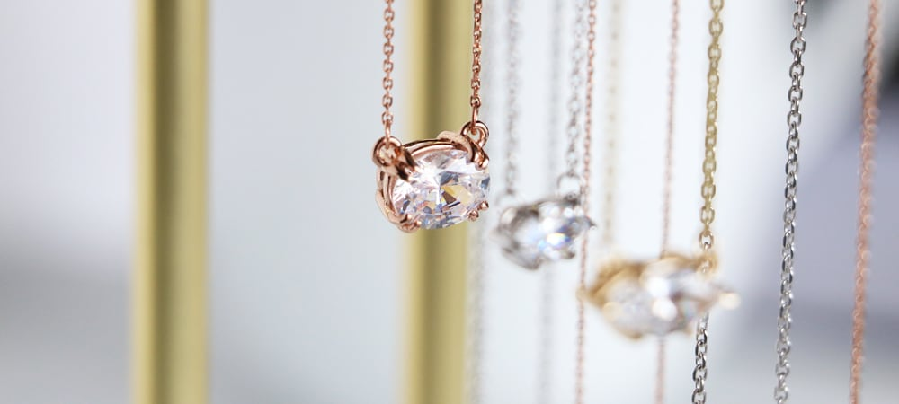 East-West Necklaces: Oval