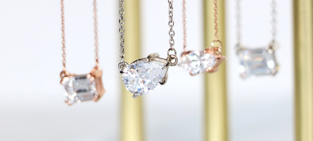 East-West Necklaces: Pear