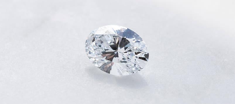 A loose Round Brilliant cut Nexus Diamond™ alternative.
