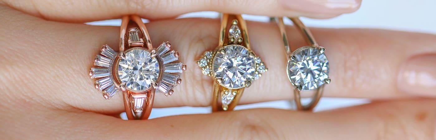 The DN'Elan engagement ring from Diamond Nexus.