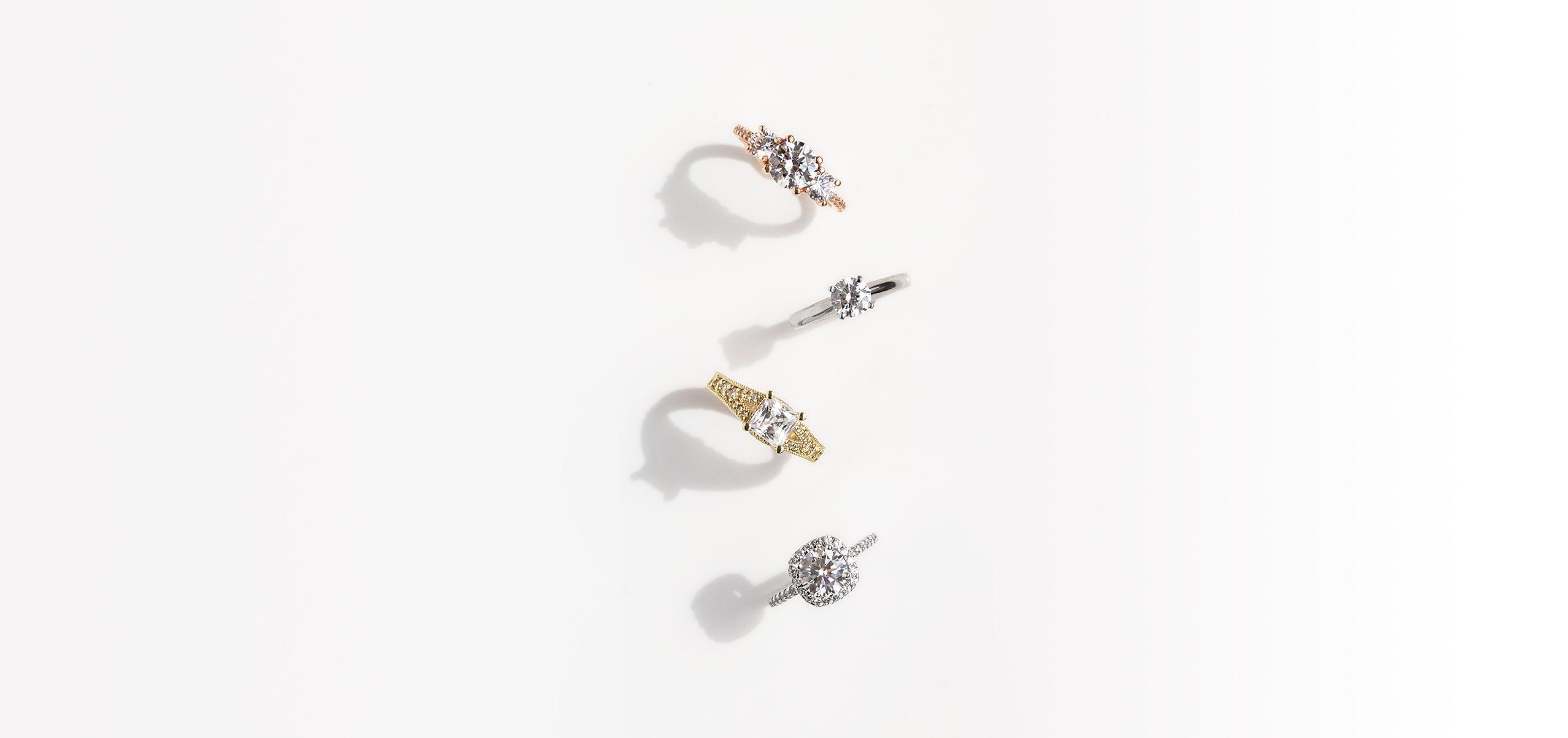 Four Diamond Nexus engagement rings.