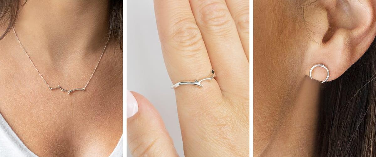 Minimal fine jewelry pieces under $100.
