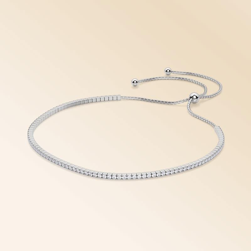 Silver Simply Bound Bracelet 1.62cts >