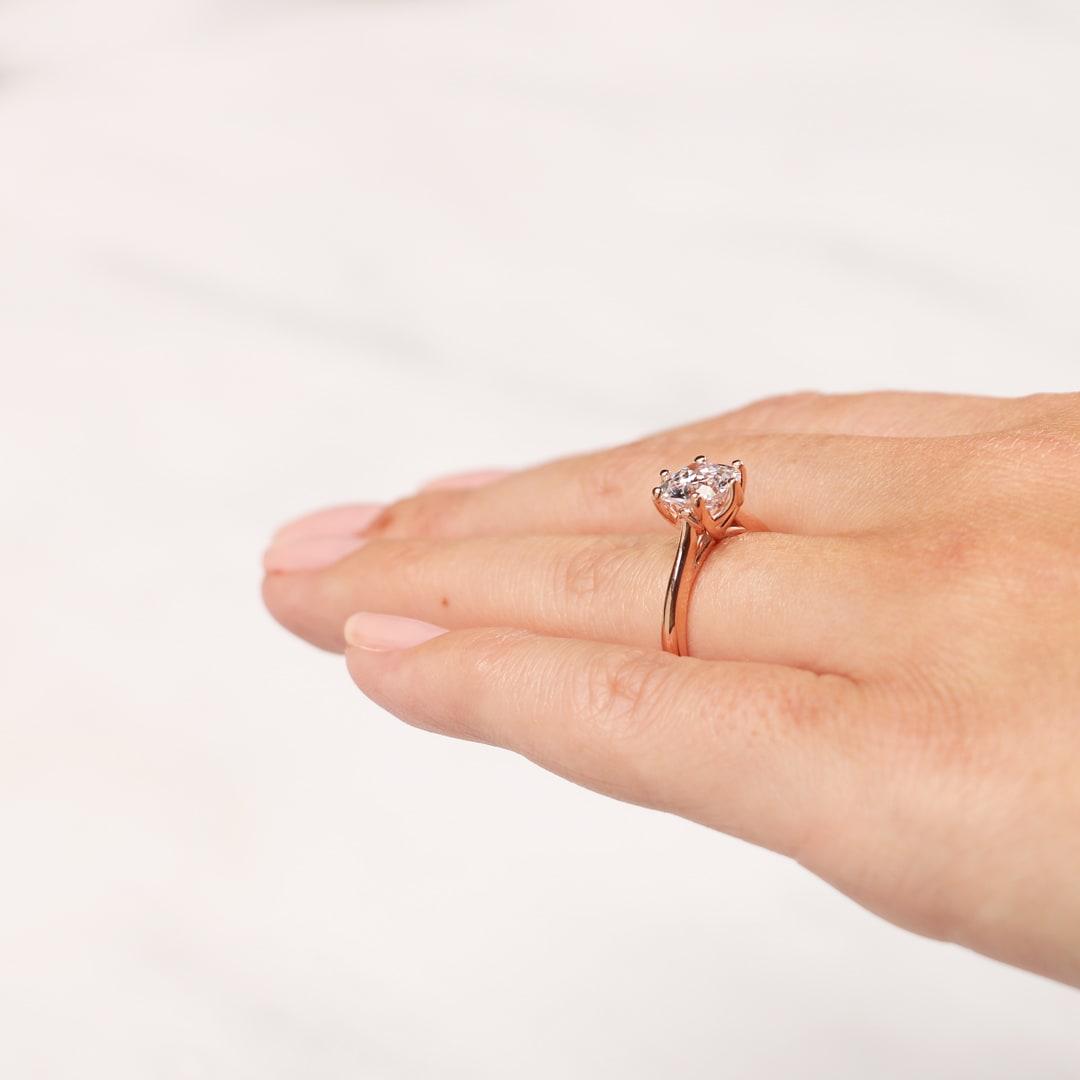 Bali Classic Oval Cut Engagement Ring