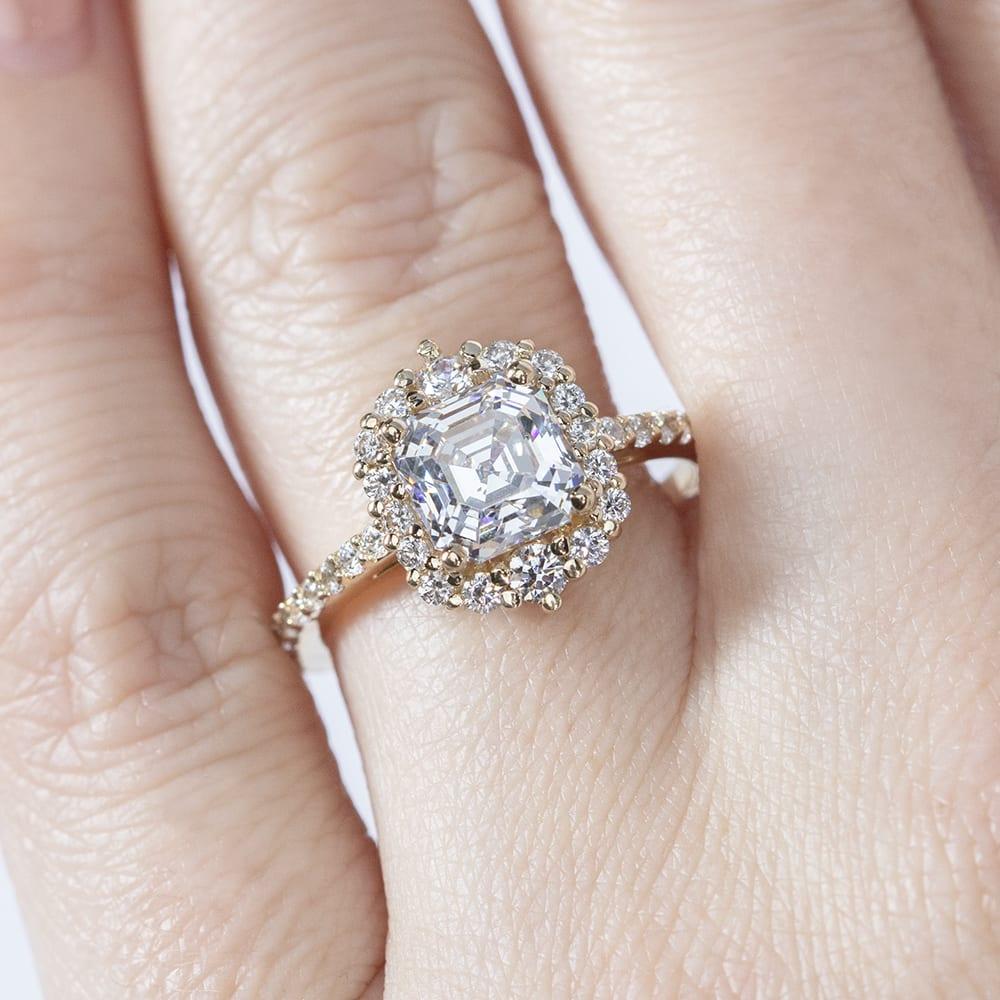 Barcelona Asscher Cut Engagement Ring