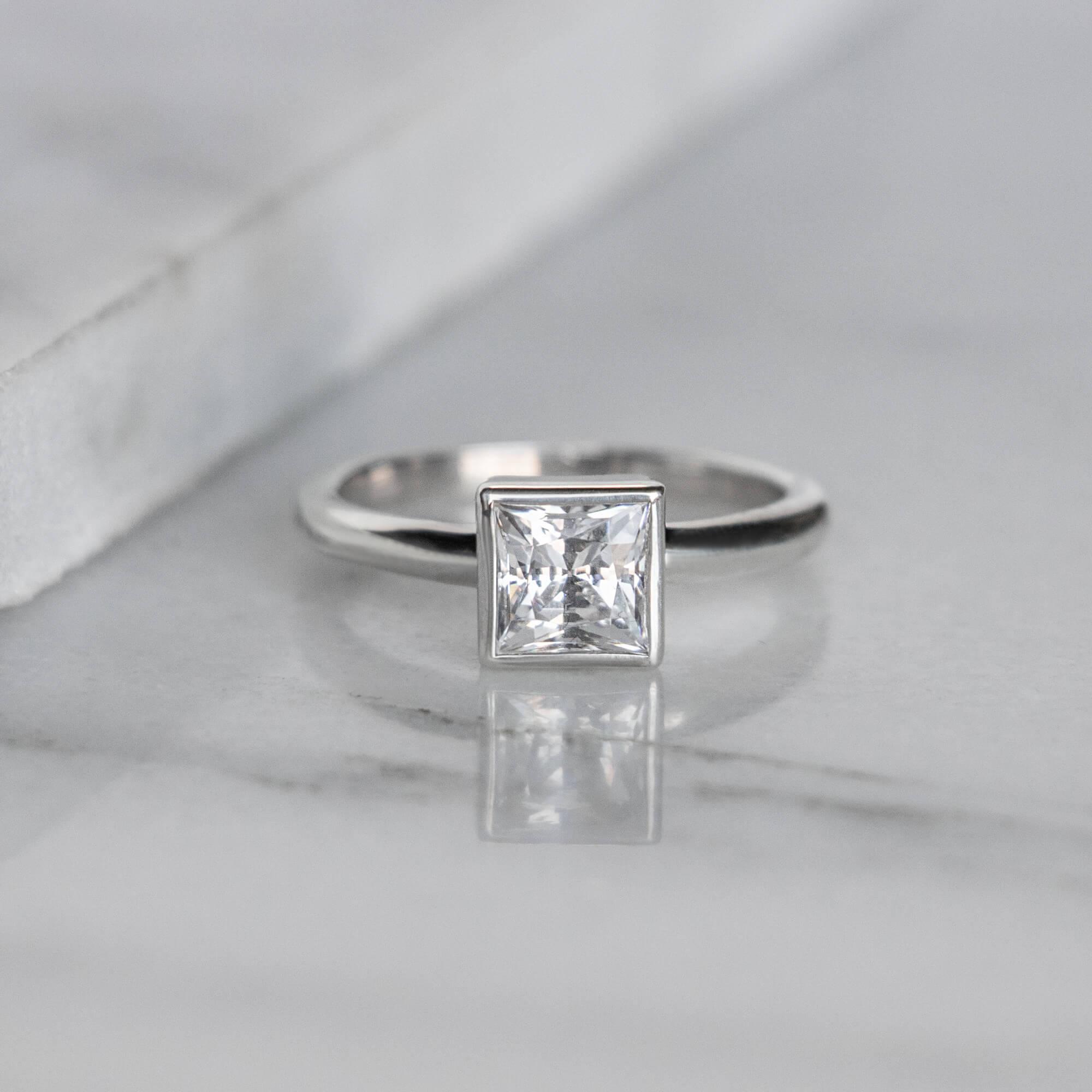 Marseille Princess Cut Engagement Ring