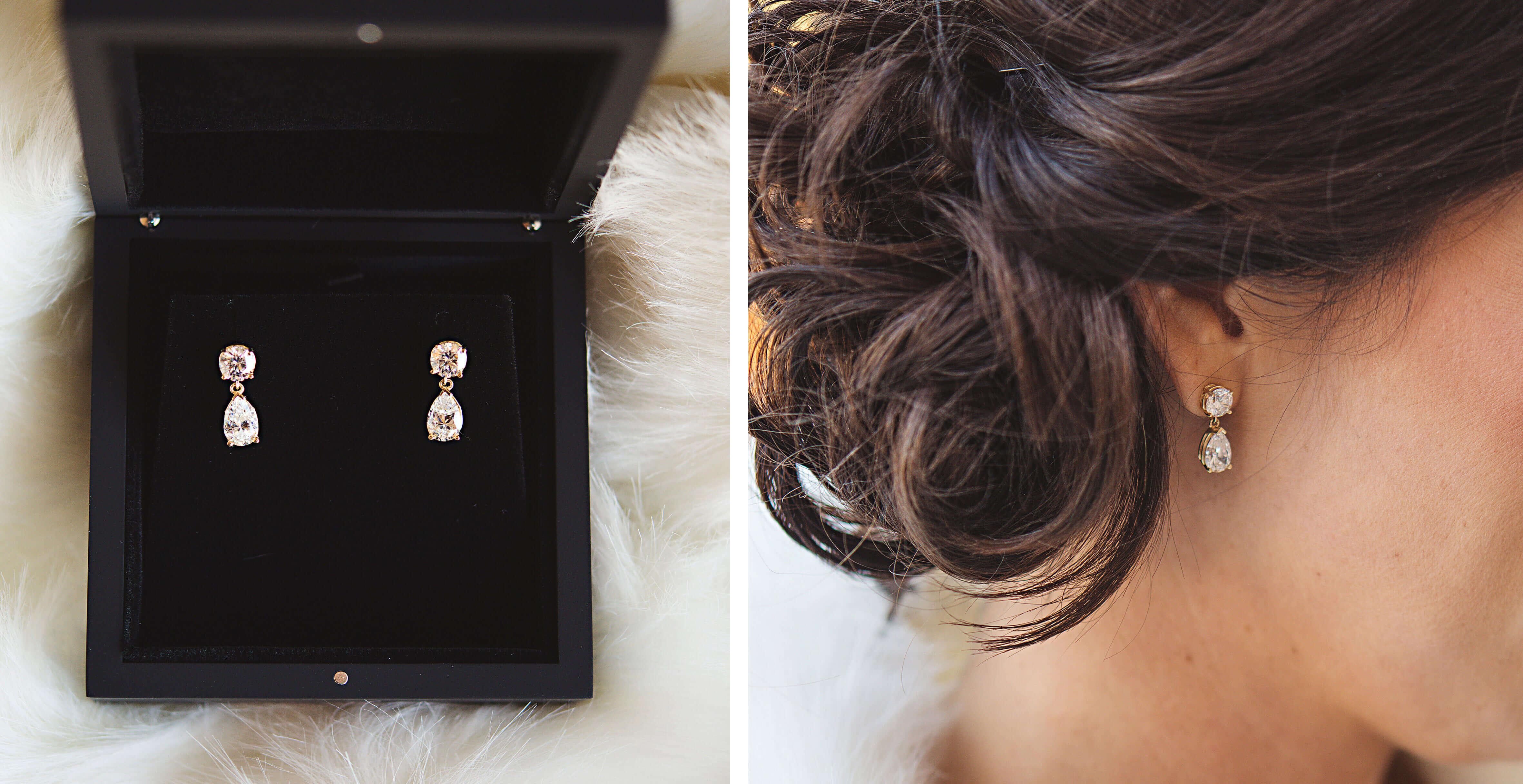 Leto Pear Cut Drop Earrings from Diamond Nexus.