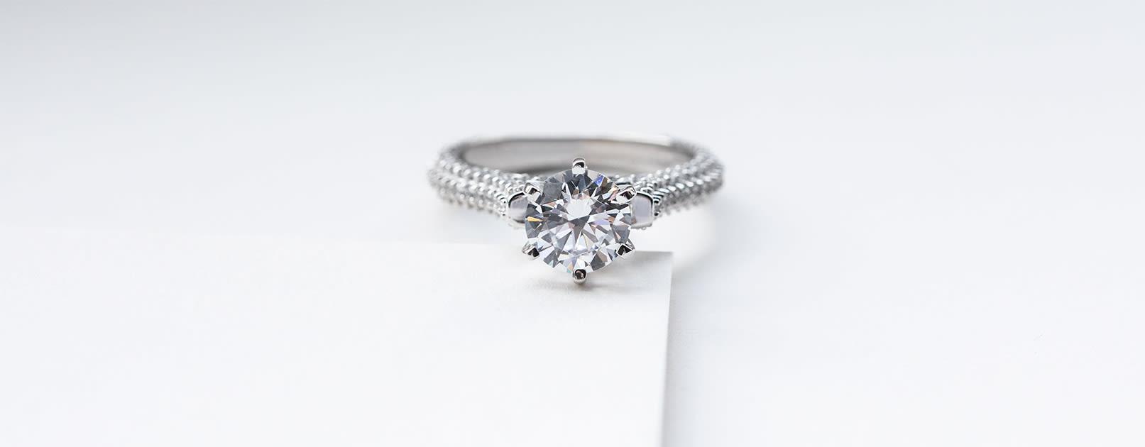 Seine Round Cut Engagement Ring from Diamond Nexus.