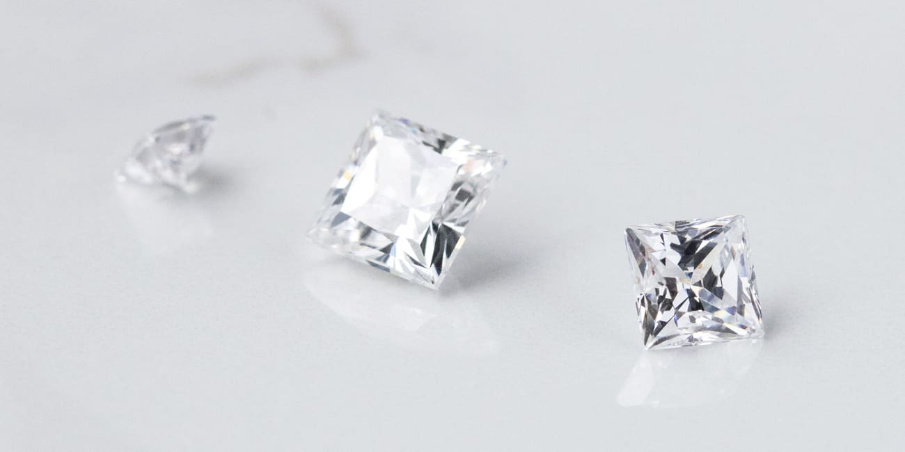 Loose Princess cut Nexus Diamond alternatives.