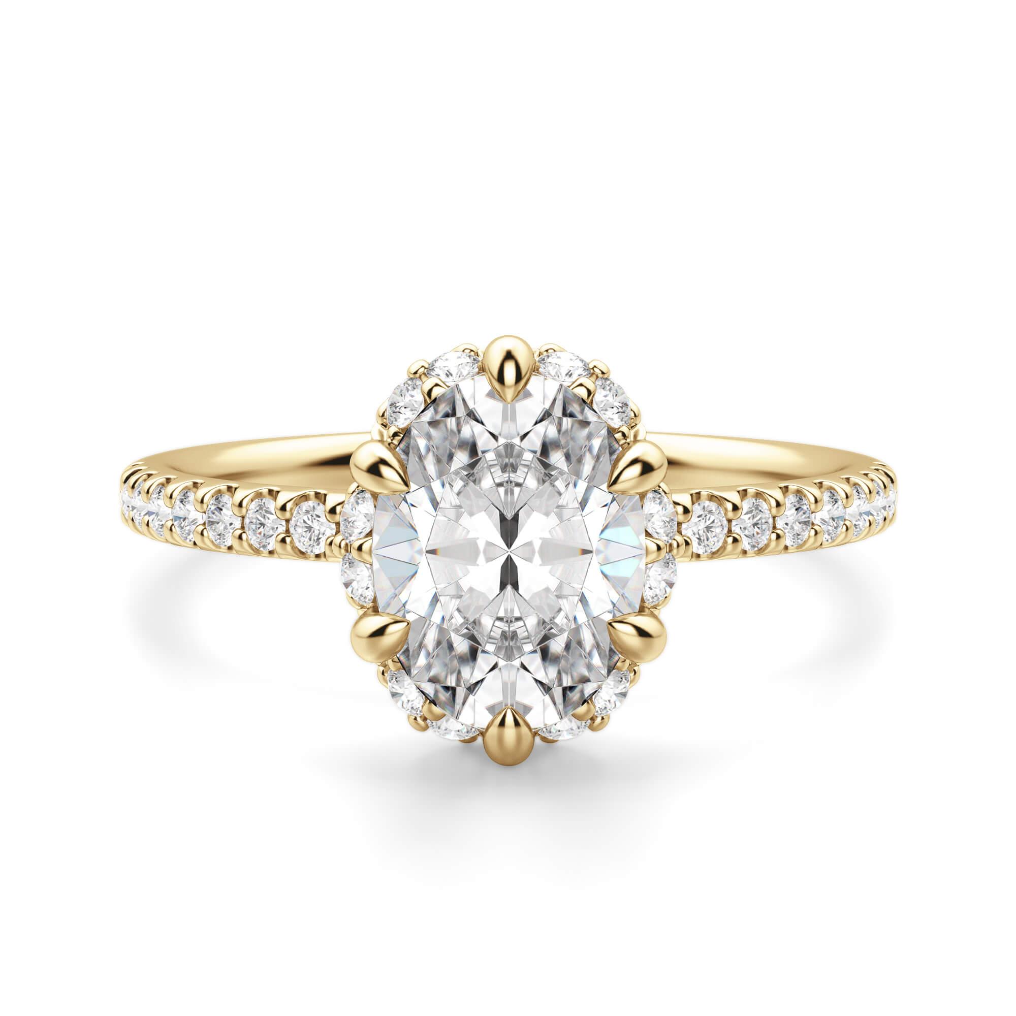 Novara Oval Cut Engagement Ring