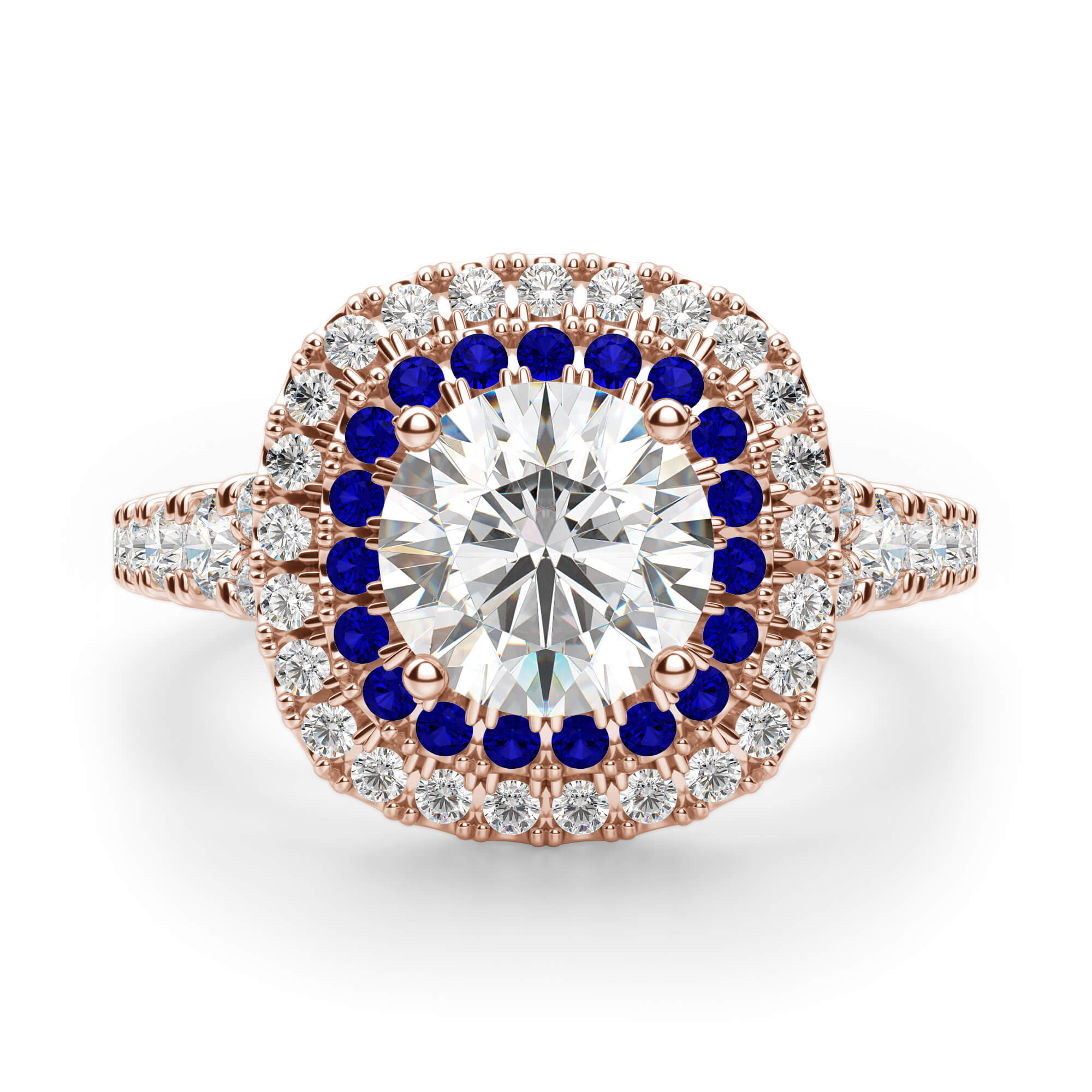 Pamplona Round Cut Engagement Ring