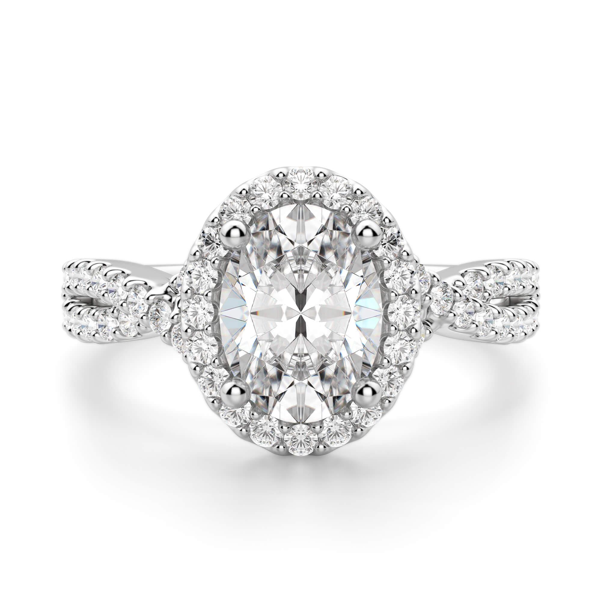 Capri Oval Cut Engagement Ring