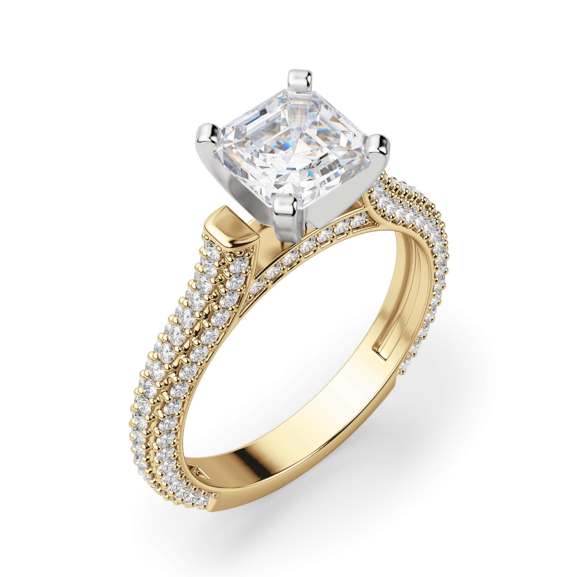 Seine Asscher Cut Engagement Ring