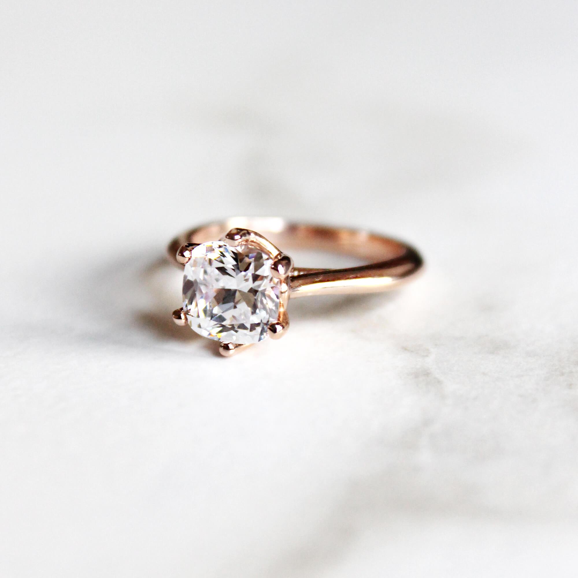 Bali Classic Cushion Cut Engagement Ring