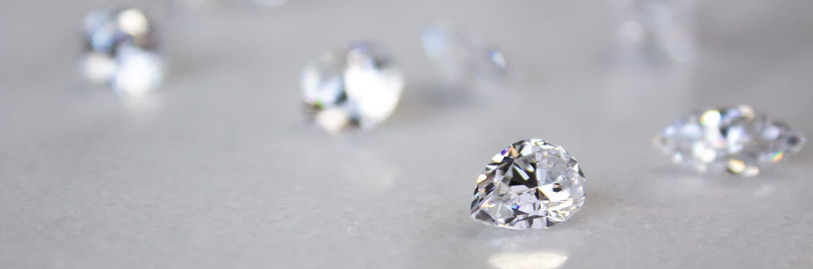 Loose lab created diamond simulants.