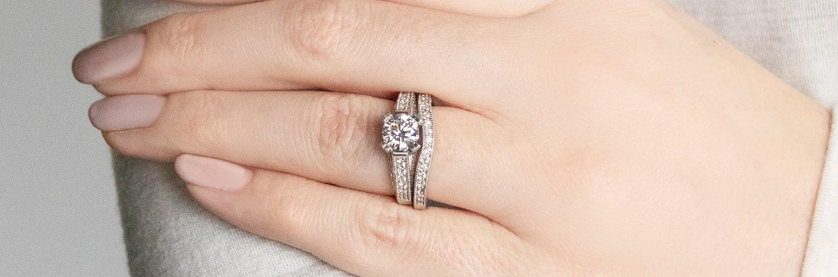 Matching wedding ring set.