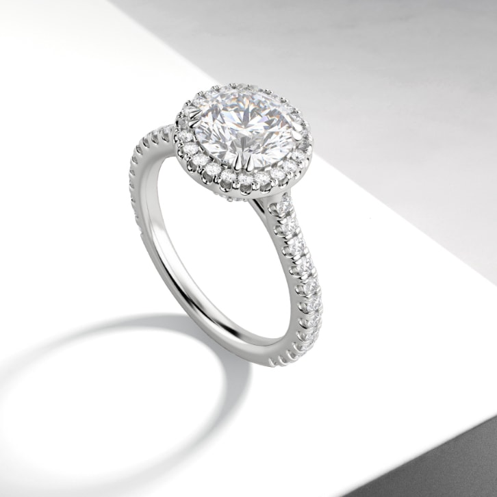 halo cut engagement ring