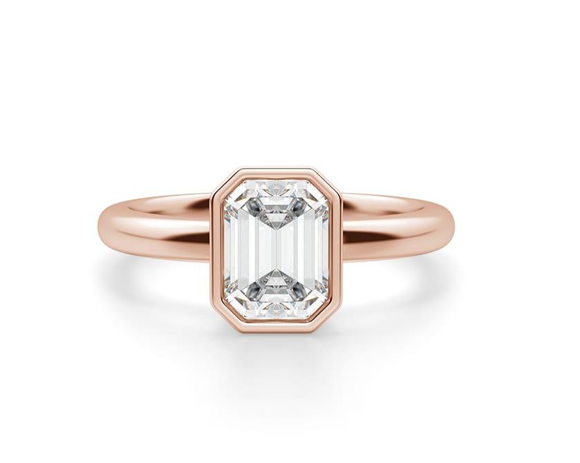 Bezel engagement ring.