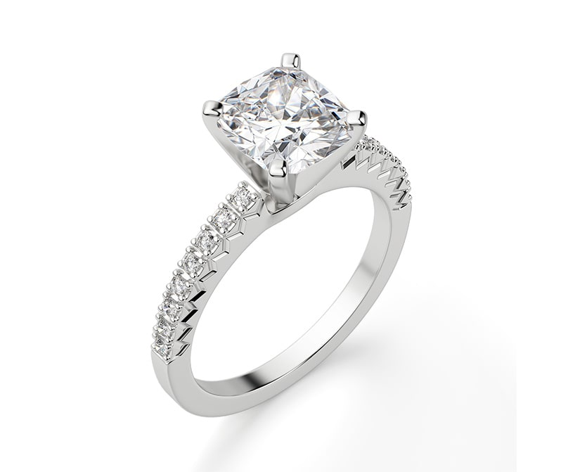 Accented engagement ring.