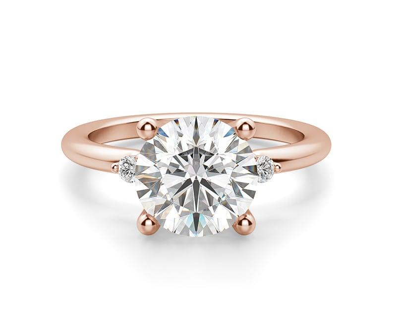 Three stone engagement ring.