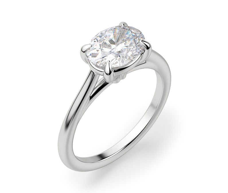 Dainty engagement ring.