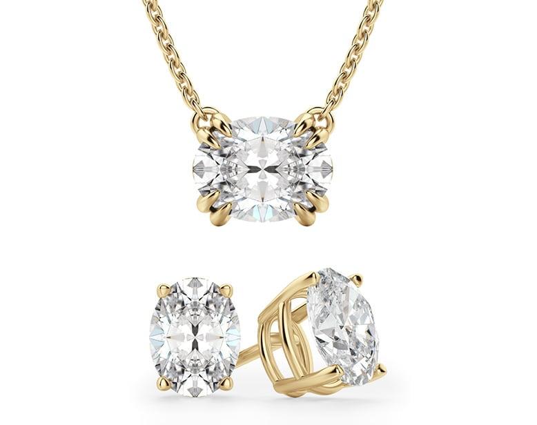 East-west wedding jewelry set.