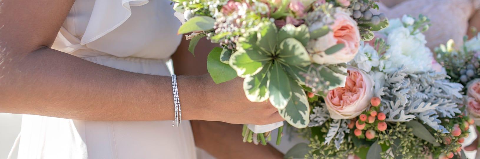 Modern wedding jewelry.