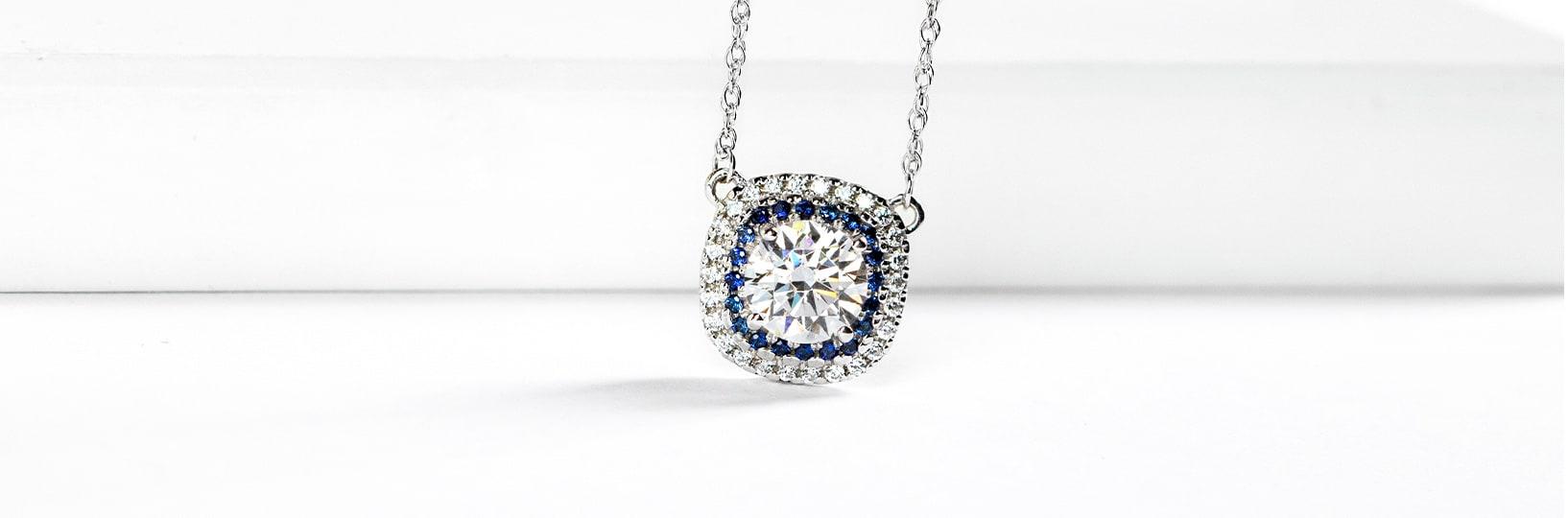 Halo wedding necklace.