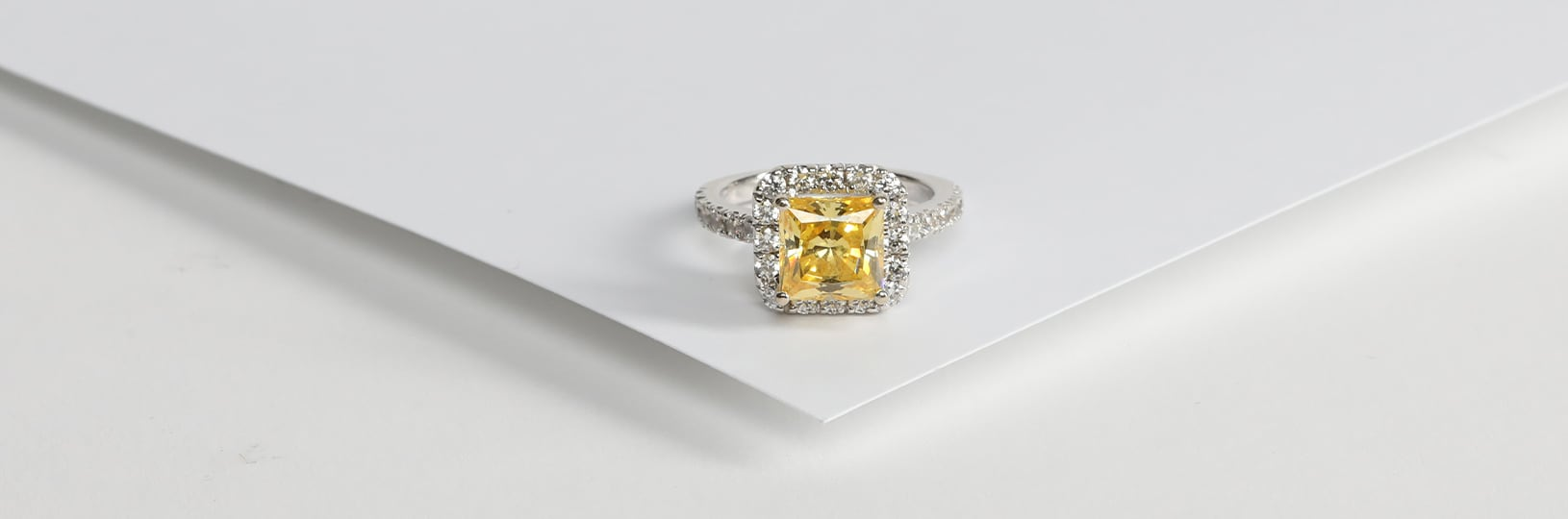 Canary engagement ring.