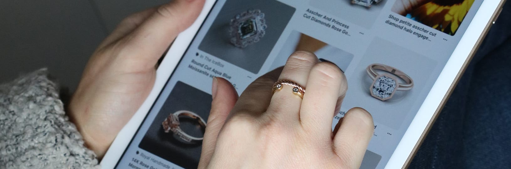 Online engagement ring shopping.