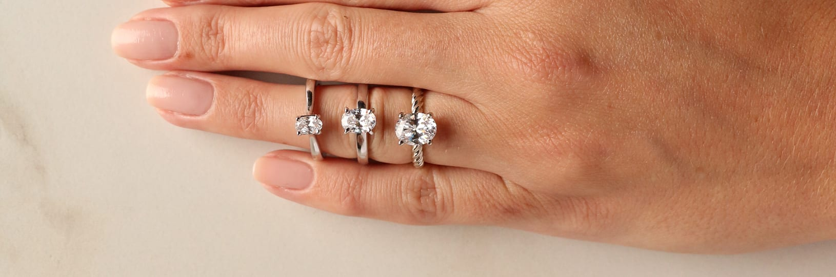 three simple engagement rings