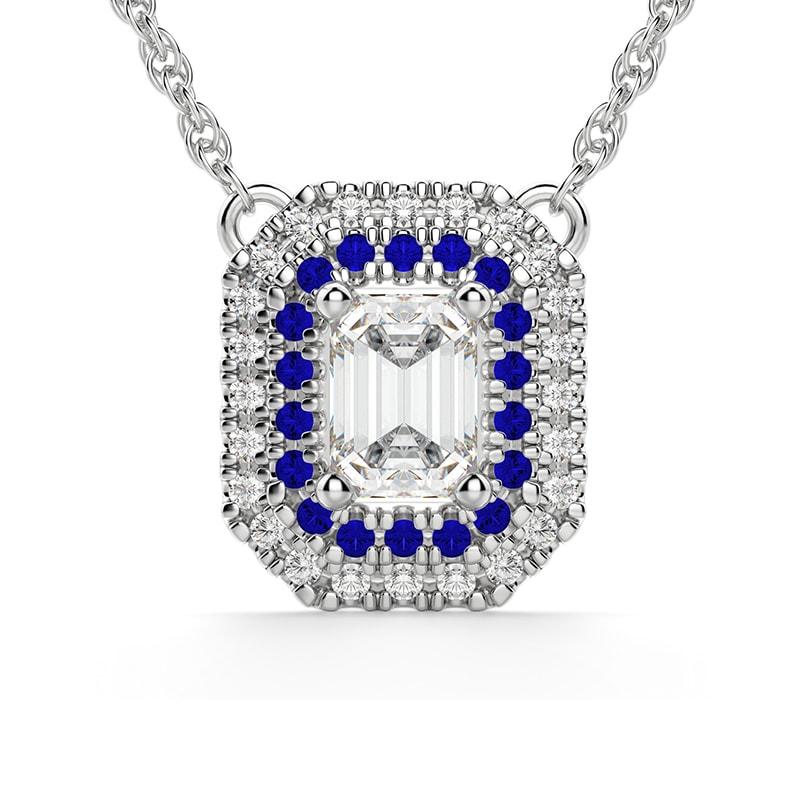 Copenhagen Sapphire Necklace, .52ct