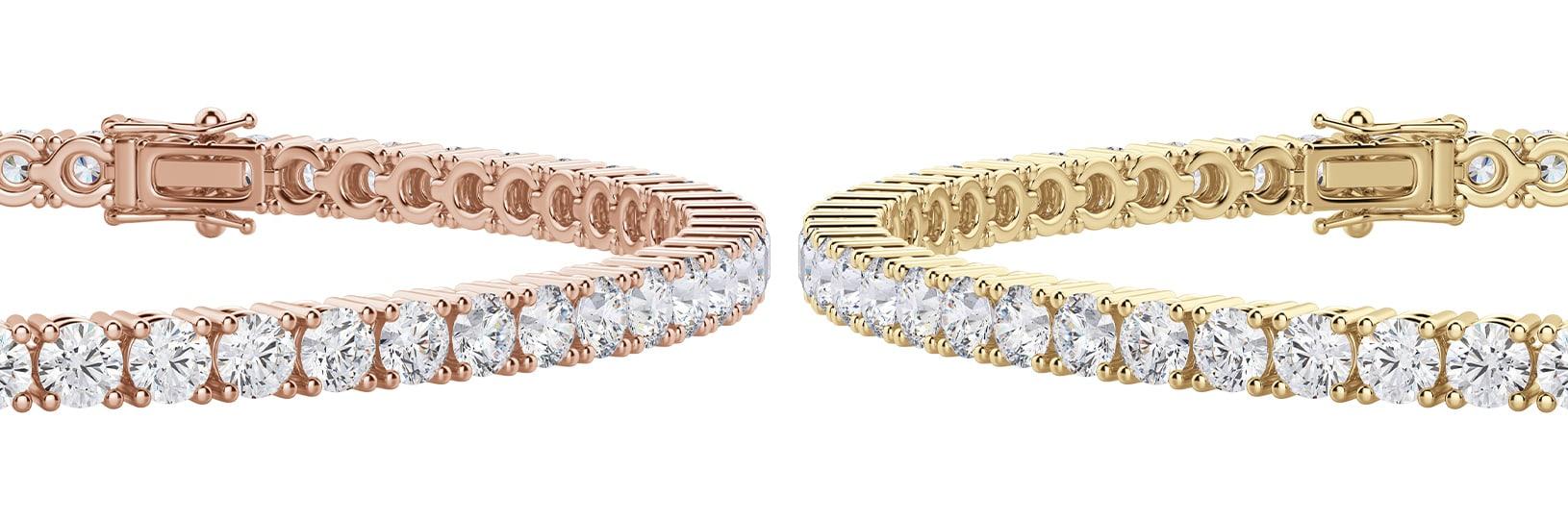 Yellow gold bracelet & rose gold bracelet