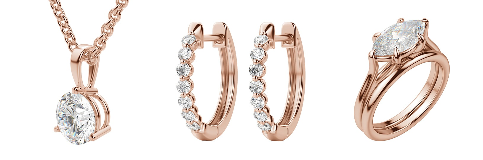 Rose gold fine jewelry & rose gold engagement rings