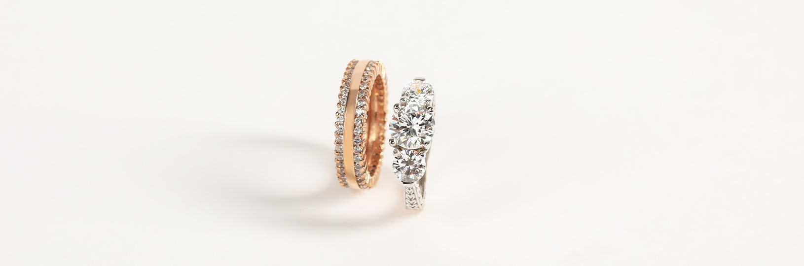 Simulated diamond right hand rings